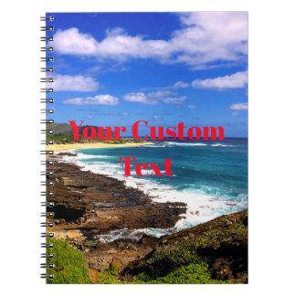 Rocky Hawaiian Tropical Island Spiral Notebook