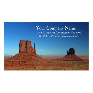 Rocky Monument Desert Blue Sky Pack Of Standard Business Cards