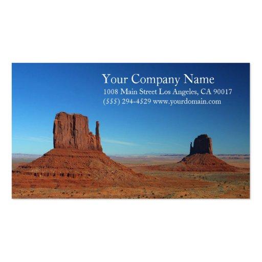 Rocky Monument Desert Blue Sky Business Card