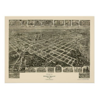 Rocky Mount, NC Panoramic Map - 1907 Poster