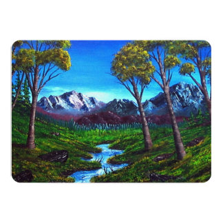 Rocky Mountain Abstract Card