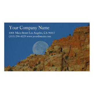 Rocky Mountain Cliffs Moon Canyon Blue Sky Pack Of Standard Business Cards