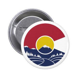 Rocky Mountain Colorado C 6 Cm Round Badge