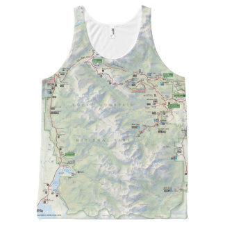 Rocky Mountain (Colorado) map unisex shirt