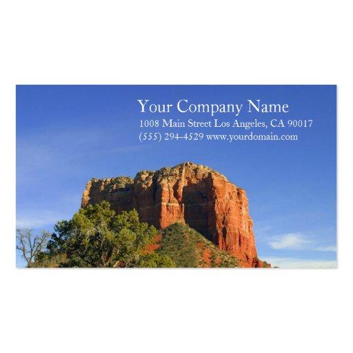 Rocky Mountain Desert Blue Sky Business Cards