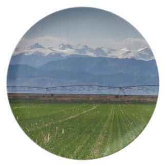 Rocky Mountain Farming View Plate