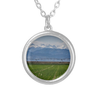 Rocky Mountain Farming View Silver Plated Necklace