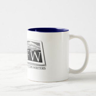Rocky Mountain Fiction Writers Logo Wear Two-Tone Coffee Mug