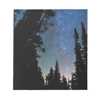Rocky Mountain Forest Night Notepad