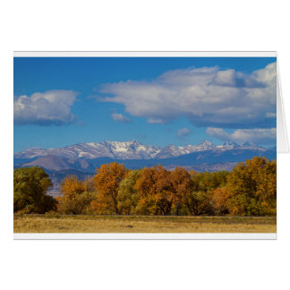 Rocky Mountain Front Range Colorful View Card