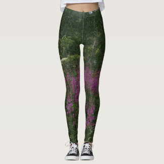 Rocky Mountain High Country Flowers Leggings