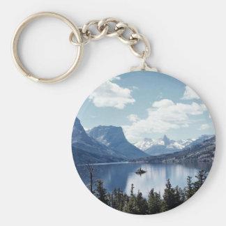 Rocky Mountain lake view, Glacier National Park, M Key Ring