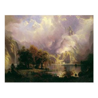 Rocky Mountain Landscape by Albert Bierstadt, 1870 Postcard