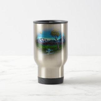 Rocky Mountain Landscape Travel Mug