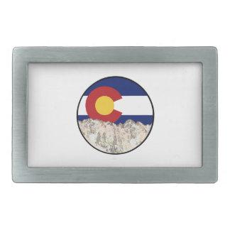 Rocky Mountain Love Rectangular Belt Buckle
