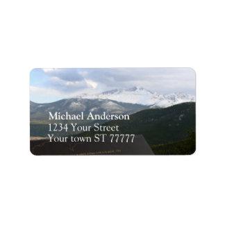 Rocky Mountain National Park Address label