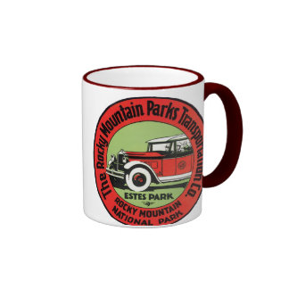 Rocky Mountain National Park Ringer Coffee Mug