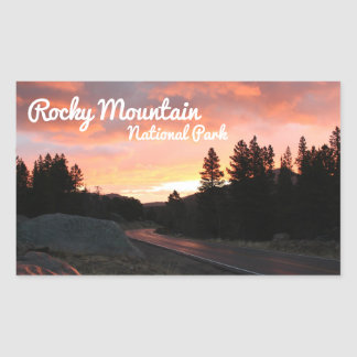 Rocky Mountain National Park - Pink Sky Sticker