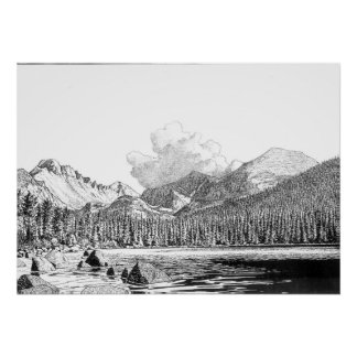 Rocky mountain national park poster