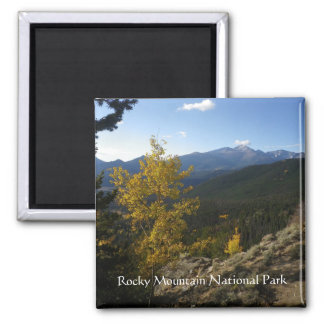 Rocky Mountain National Park square magnet