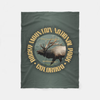 Rocky Mountain NP Fleece Blanket