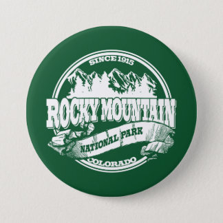Rocky Mountain Old Circle Green 7.5 Cm Round Badge