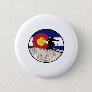 Rocky Mountain Pass 6 Cm Round Badge