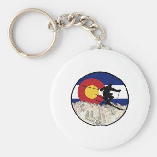 Rocky Mountain Pass Key Ring