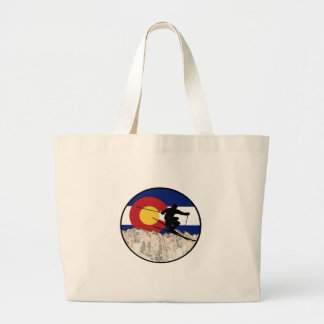 Rocky Mountain Pass Large Tote Bag