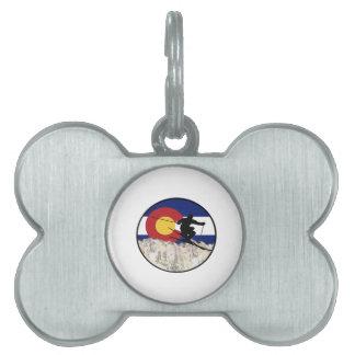 Rocky Mountain Pass Pet Name Tag