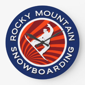 Rocky Mountain Snowboarding Large Clock
