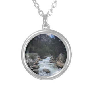 Rocky Mountain Stream Silver Plated Necklace