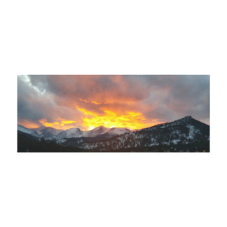 Rocky Mountain Sunset - 39x15.5 Canvas Print