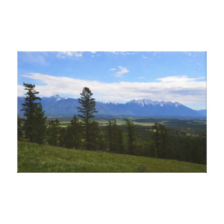 Rocky Mountain Trench wall hanging photo Canvas Print