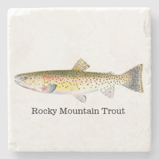 Rocky Mountain Trout Fish Stone Beverage Coaster