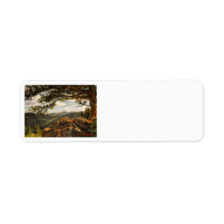 Rocky Mountain View II Oil Landscape Painting Return Address Label