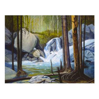 "Rocky Mountain Watefall - ""Raging Solitude"" Postcard"