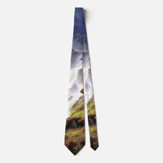 Rocky Mountain Waterfall - Albert Bierstadt Tie