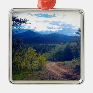 Rocky Mountain Wilderness Metal Ornament
