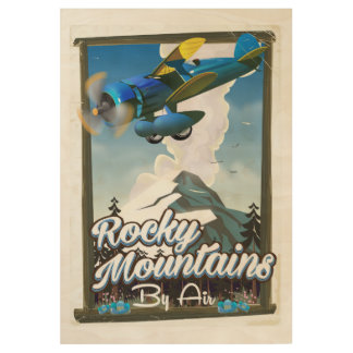 Rocky Mountains by Air! Wood Poster