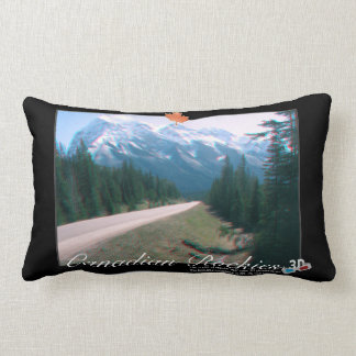 Rocky Mountains Canada 3D View Anaglyph Photo Lumbar Pillow