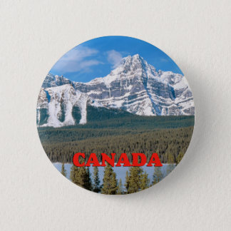 Rocky Mountains Canada 6 Cm Round Badge