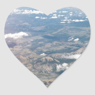 Rocky Mountains from above Heart Sticker