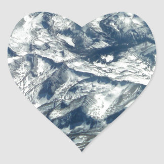 Rocky Mountains from On High Heart Sticker