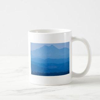 Rocky Mountains Twin Peaks Blue Haze Layers.jpg Mugs