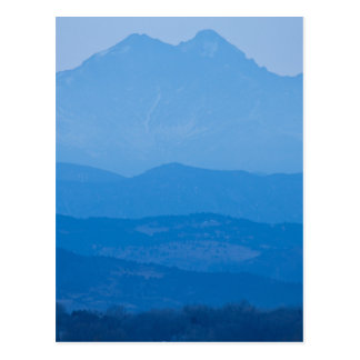 Rocky Mountains Twin Peaks Blue Haze Layers.jpg Postcard