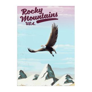 Rocky Mountains USA Vintage travel poster Acrylic Print