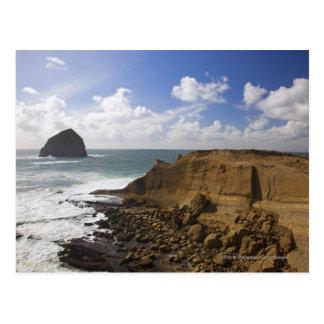 Rocky Oregon Pacific Coast in Pacific City Postcard