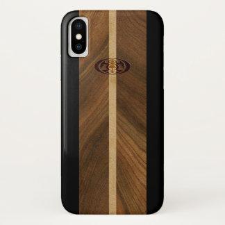 Rocky Point Hawaiian Faux Wood Surfboard iPhone X Case