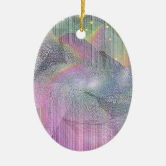 Rocky Rainbows Ceramic Oval Decoration